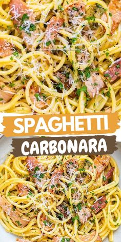 This slimming-friendly Carbonara is super easy, uses just a handful of ingredients and is completely DELICIOUS! Cooks in just 10 minutes.