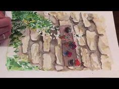 Watercolor Antique Wall Акварель Старинная стена