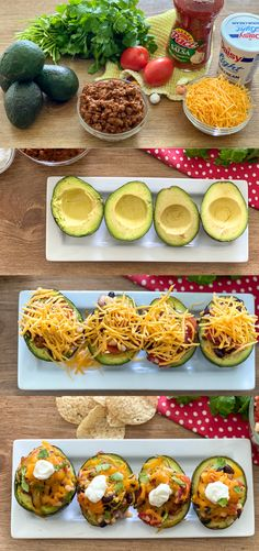 These Mexican bowls are a healthy take on Taco Tuesday! Use the avocado as a substitute for taco shells. These Mexican bowls are a healthy take on Taco Tuesday! Use the avocado as a substitute for taco shells. I Love Food, Good Food, Yummy Food, Healthy Snacks, Healthy Eating, Good Healthy Recipes, Avocado Recipes, Taco Shells, Guacamole