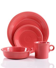 Fiesta Dinnerware, Flamingo 4 Piece Place Setting - Fiesta Dinnerware - Dining & Entertaining - Macy's