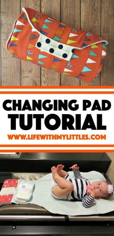 Sew your own changing pad with built-in diaper and wipes holders. A simple tutorial with lots of pictures, perfect for baby shower gifts! # diy baby gifts Changing Pad Tutorial - Life With My Littles Diy Baby Gifts, Baby Crafts, Gifts For Kids, Homemade Baby Gifts, Easy Baby Gifts To Make, Gifts To Sew, Baby Diy Stuff, Baby Gifts For Girls, Baby Shower Gifts To Make
