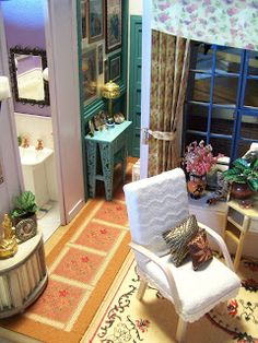"Miniature: 1:12 scale - Monica's apartment from ""Friends"" in miniature"