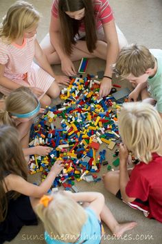 Let's Get Crazy with Legos - Lego Challenge Game that provides hours of fun! There's a FREE printable and FUN in the future!!!! sunshinesandhurricane.com
