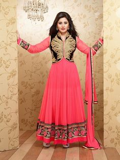 New Indian Bollywood Designer Anarkali Salwar Kameez Fancy Salwar Georgette