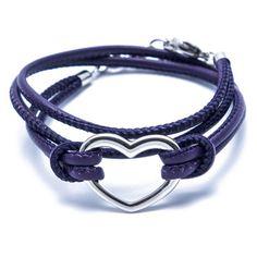 Beka & Bella - Charity-Wickelarmband Heart - Purple