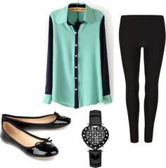 """""""Sheer blouse outfit."""" by msjade812 on Polyvore"""