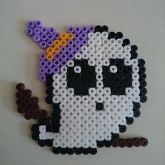 Ghost Halloween hama beads by expiri