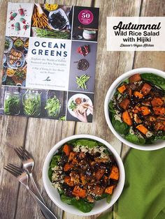 Autumnal Wild Rice Salad with Haijiki >> Dianne's Vegan Kitchen