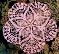 Handmade Crochet  Pink  cotton thread  18  by CrochetByBetty, $28.00