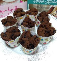 brownies kukus coklat Blueberry Scones, Vegan Blueberry, Bolu Cake, Brownies Kukus, Canned Blueberries, Vegan Scones, Gluten Free Flour Mix, Scones Ingredients, I Love Chocolate