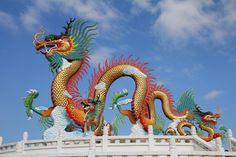 A Chinese dragon statue at Nakornsawan Park in Thailand. Credit: GOLFX / Shutterstock