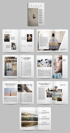 Nuovi template gratuiti per riviste su InDesign New free magazine templates on InDesign Portfolio Design, Mise En Page Portfolio, Indesign Portfolio, Page Layout Design, Magazine Layout Design, Magazine Layouts, Design Design, Magazine Format, Cover Design