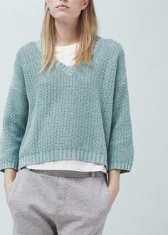 Cotton sweater - Cardigans and sweaters for Woman | MANGO Slovakia