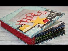 Scrapbook aus Resten [Upcycling,Junk Journal,] Mini Album mit Fadenbindung [ tutorial deutsch] - YouTube