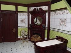 Victorian Bathroom.  Une création: http://englishmanordollhouse.blogspot.fr/