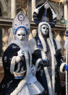 Ded Moroz (Father Frost) costume at Carnivale in Venice.