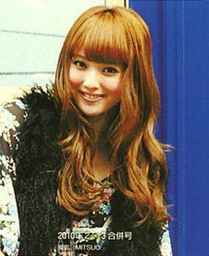 "Model / Nozomi Sasaki. Japanese girls fashion magazine ""non-no"". girlish & cute hair style. 2010."