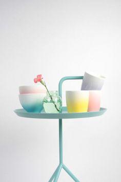 Pastel colors work beautifuly in a side table #sidetabledesign red design #redsidetables modern living room #livingroomdesign decorating ideas. Find more inspirations at www.coffeeandsidetables.com