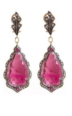 Cathy Waterman pink sapphire earrings. Pink Sapphire Earrings, Drop Earrings, Smoky Eye Makeup Tutorial, Cathy Waterman, Pink Gemstones, Pink Jewelry, Diamonds, Jewels, Accessories
