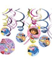 Dora the Explorer Swirl Decorations - Party City