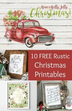 Free Rustic Themed Christmas Printables