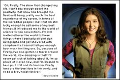 """I'll be a Browncoat forever."" ~Jewel Staite"