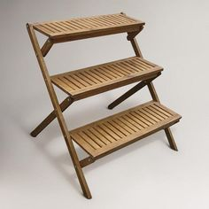 Tiered Plant Stand- this way I can kill more plants in the summer heat.