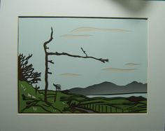 Port Mor Tree, Isle of Muck,handmade papercut by Molly Fitch