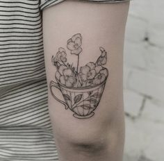 "358 Likes, 4 Comments - Inshaan @ Ink and Water (@inshaanali) on Instagram: ""A dainty little teacup and some pansies done at @inkandwatertattoo. #tattooartist #toronto…"""