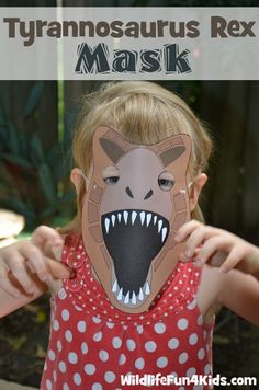 Printable Dinosaur Masks for Prehistoric Play | Wildlife Fun 4 Kids