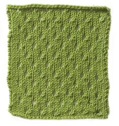 Stitchfinder : Knitting Pattern: Simple Eyelet : Frequently-Asked Questions (FAQ) about Knitting and Crochet : Lion Brand Yarn