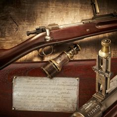 """Farr Springfield Rifle - At the 1921 Camp Perry National Mataches, first-timer """"Dad"""" Farr chose a stock M1903 rifle from the stand. Using old issue ammo & iron sights, Farr fired an unrivaled string of 71 consecutive bullseyes. Using a rifle he had never shot before, at 1000 yards, Farr shot an incredible record. His fellow shooters chipped in to buy that rifle for Farr that day. A silver plate is mounted on the stock with those who contributed. NRA Museum at Bass Pro in Springfield, MO."""