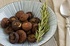 Roasting cremini mushrooms is an easy way to bring out their earthy flavor. This roasted cremini mushrooms recipe includes fresh herbs. Roasted Mushrooms, Stuffed Mushrooms, Stuffed Peppers, Delicious Vegan Recipes, Vegetarian Recipes, Veggie Heaven, Spring Recipes, Mushroom Recipes