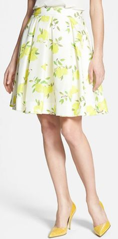 Kate Spade lemony #yellow silk skirt http://rstyle.me/n/jewkmr9te