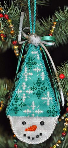 Needlepoint Christmas Ornament - Snow Cones - Flake!!