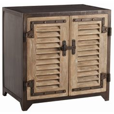 Lyon Iron/wood Shutter Cabinet