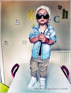 dude, this kid has swag!