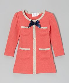 I want everything on here for Tessa. Gorgeous. Take a look at this Coral Pocket Dress - Toddler & Girls on zulily today!