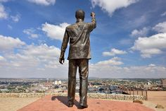 Naval Hill Nelson Mandela Statue, Bloemfontein, Free State, South Africa | by South African Tourism Free State, Nelson Mandela, Africa Travel, Places To Travel, South Africa, Landscape Photography, Tourism, Statue, Portrait