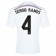1c94dd63f0d68 Sergio Ramos Real Madrid Home Shirt 2014 – 2015 Real Madrid Kit