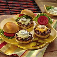 Chipotle Mini Burgers - Chipotle chiles heat up these mini hamburgers