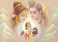 goddess+parvati,+lord+shiva,+son+sri+ganesh.jpg (400×294)