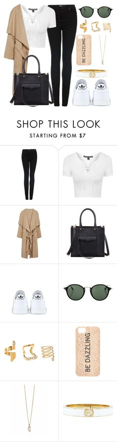 """Geen titel #267"" by beautstakingovertheworld ❤ liked on Polyvore featuring Topshop, Rebecca Minkoff, adidas, Ray-Ban, Forever 21, Kate Spade, Zoya and Michael Kors"