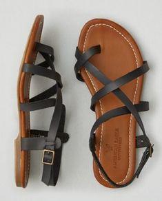 Sandalias caladas con hebilla AEO , Café | American Eagle Outfitters