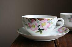 Noritake - I have a double set of this bone china. Azalea.