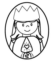 Faith Filled Freebies - Mary Queen of Heaven and Earth Lesson and free printable to decorate for the May Crown.  Charlotte's Clips http://pinterest.com/kindkids/religious-education/