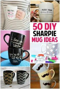 Check out this list of 50 sharpie mug ideas, http://www.coolcrafts.com/sharpie-mug-ideas/