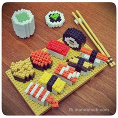 Sushi nanoblocks (Chris's Nanoblock Blog)