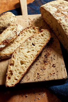 """NYT Cooking: So you've brought a <a href=""""http://cooking.nytimes.com/recipes/1013152-sourdough-starter"""">sourdough starter</a> to life, or received one as a gift, or purchased one somewhere. You've fed it and watched it become bubbly and fragrant, with a light yeasty-boozy scent. Now it's time to bake bread. An easy way to start is with this adaptation of the baker Jim Lahey's storied recipe for%..."""