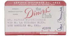 """If you were a somebody in the '60s and '70s, you probably flashed a Diners Club card when picking up the check. You may not see too many people paying with the card today, but it holds an important place in history; it helped launch the massive credit card industry we have today."""